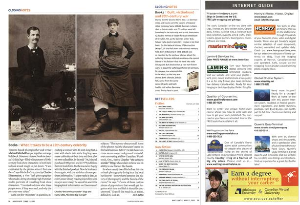 Article Preview: Books, May 2003 | Maclean's