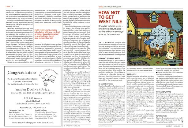 Article Preview: HOW NOT TO GET WEST NILE, May 2003 | Maclean's
