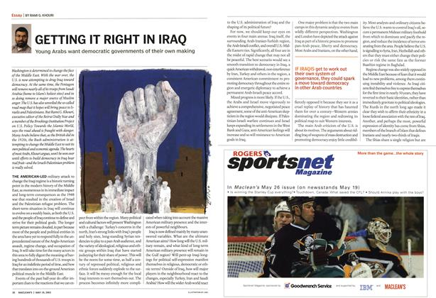Article Preview: GETTING IT RIGHT IN IRAQ, May 2003 | Maclean's