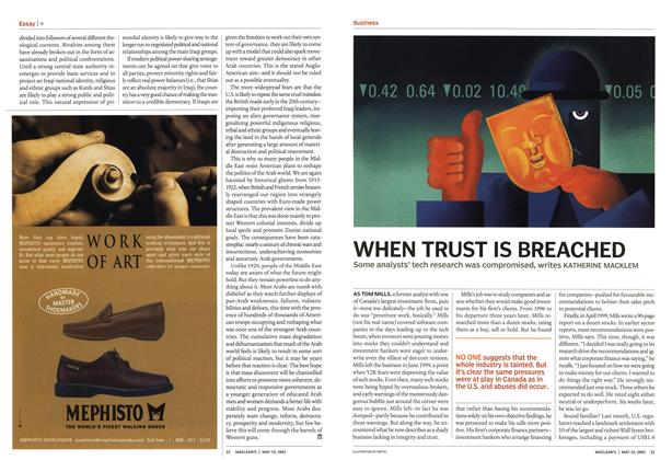 Article Preview: WHEN TRUST IS BREACHED, May 2003 | Maclean's