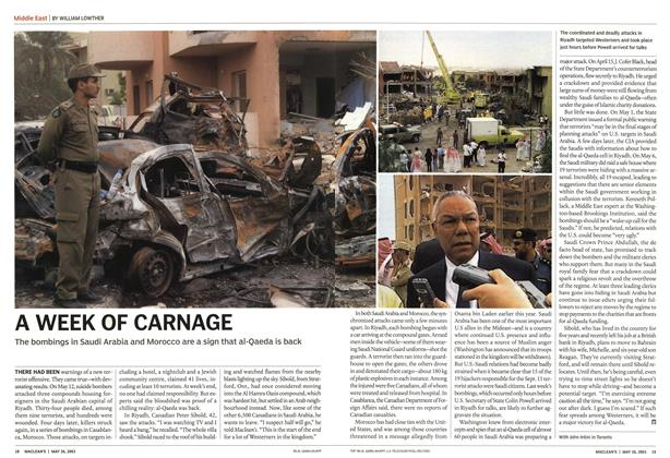 Article Preview: A WEEK OF CARNAGE, May 2003 | Maclean's