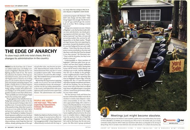 Article Preview: THE EDGE OF ANARCHY, May 2003 | Maclean's