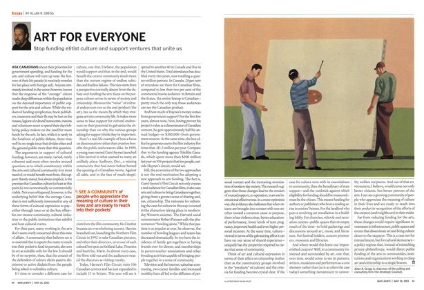 Article Preview: ART FOR EVERYONE, May 2003 | Maclean's
