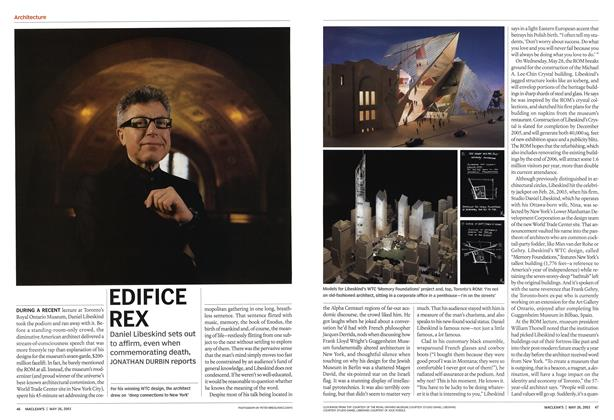 Article Preview: EDIFICE REX, May 2003 | Maclean's