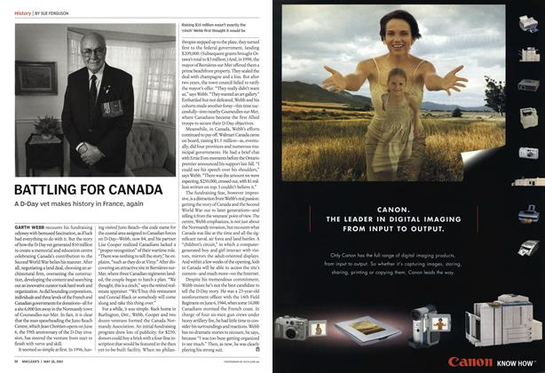 Article Preview: BATTLING FOR CANADA, May 2003 | Maclean's