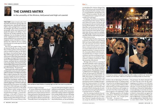 Article Preview: THE CANNES MATRIX, May 2003 | Maclean's