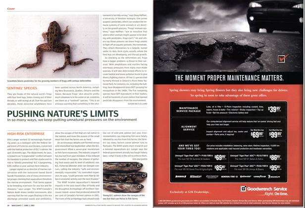 Article Preview: PUSHING NATURE'S LIMITS, June 2003 | Maclean's