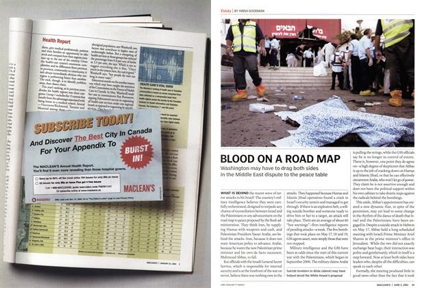 Article Preview: BLOOD ON A ROAD MAP, June 2003 | Maclean's