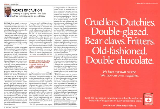 Article Preview: WORDS OF CAUTION, June 2003 | Maclean's