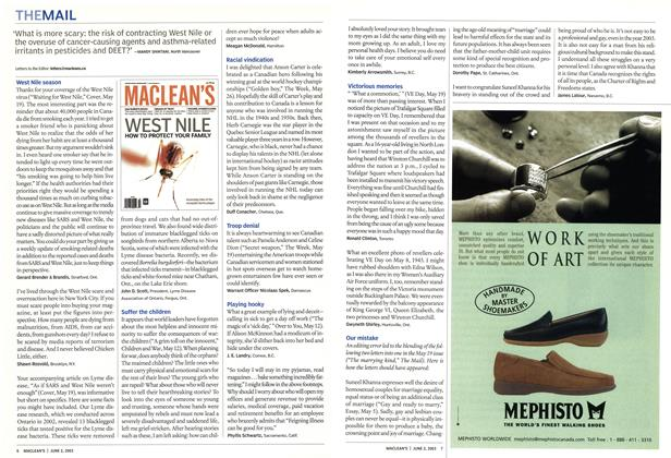 Article Preview: THE MAIL, June 2003 | Maclean's