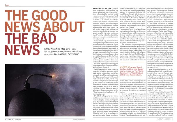 Article Preview: THE GOOD NEWS ABOUT THE BAD NEWS, June 2003 | Maclean's