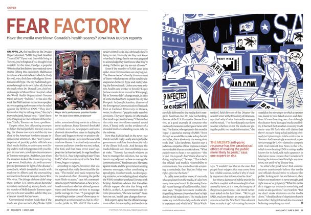 Article Preview: FEAR FACTORY, June 2003 | Maclean's