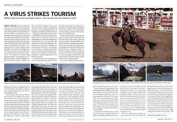Article Preview: A VIRUS STRIKES TOURISM, June 2003 | Maclean's