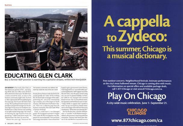 Article Preview: EDUCATING GLEN CLARK, June 2003 | Maclean's