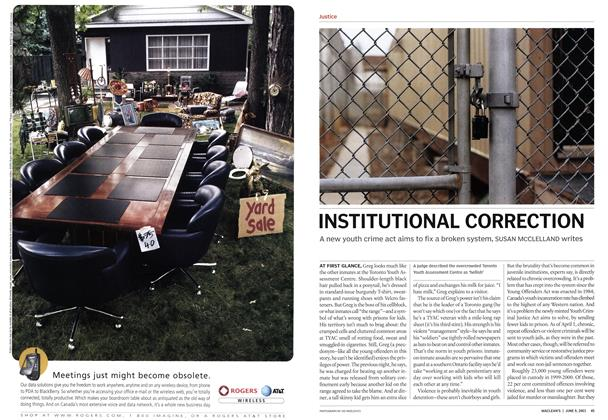 Article Preview: INSTITUTIONAL CORRECTION, June 2003 | Maclean's