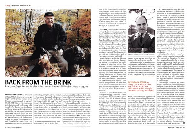 Article Preview: BACK FROM THE BRINK, June 2003 | Maclean's