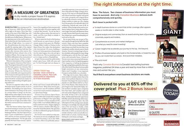 Article Preview: A MEASURE OF GREATNESS, June 2003 | Maclean's