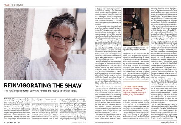Article Preview: REINVIGORATING THE SHAW, June 2003 | Maclean's