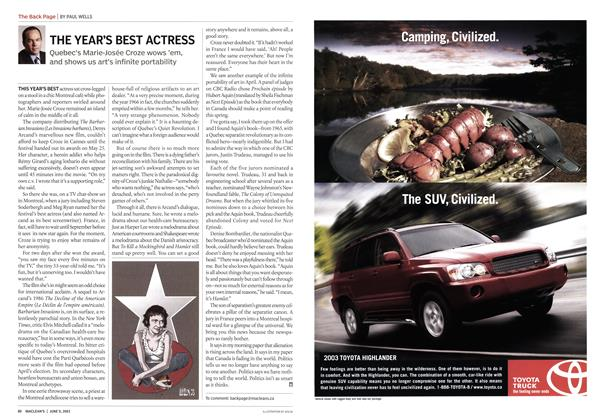 Article Preview: THE YEAR'S BEST ACTRESS, June 2003 | Maclean's
