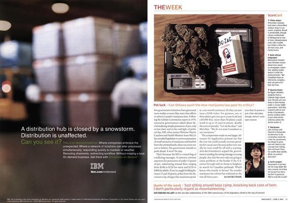 Article Preview: Pot luck, June 2003 | Maclean's