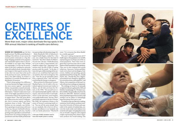 Article Preview: CENTRES OF EXCELLENCE, June 2003 | Maclean's