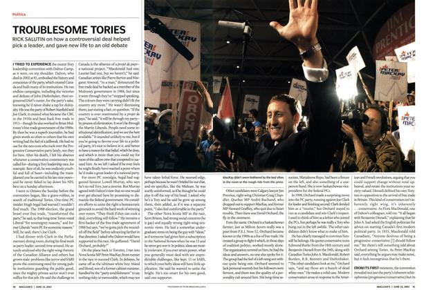 Article Preview: TROUBLESOME TORIES, June 2003 | Maclean's