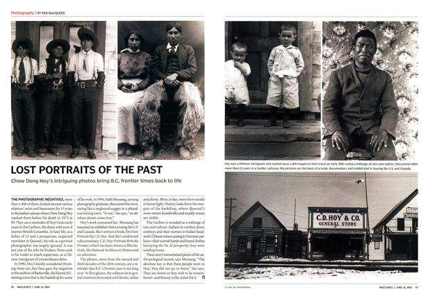 Article Preview: LOST PORTRAITS OF THE PAST, June 2003 | Maclean's