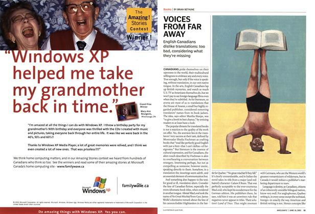 Article Preview: VOICES FROM FAR AWAY, June 2003 | Maclean's