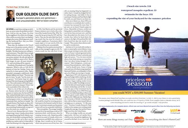 Article Preview: OUR GOLDEN OLDIE DAYS, June 2003 | Maclean's