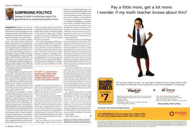 Article Preview: SURPRISING POLITICS, June 2003   Maclean's