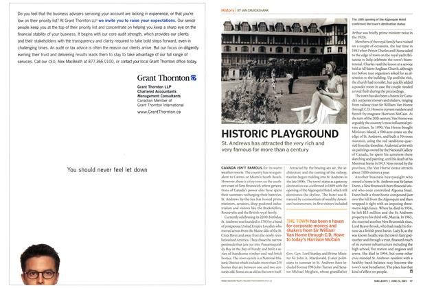 Article Preview: HISTORIC PLAYGROUND, June 2003 | Maclean's