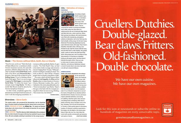 Article Preview: CDs, June 2003 | Maclean's