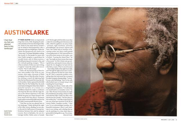Article Preview: AUSTIN CLARKE, July 2003 | Maclean's