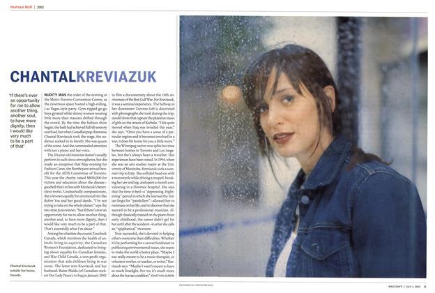Article Preview: CHANTAL KREVIAZUK, July 2003 | Maclean's