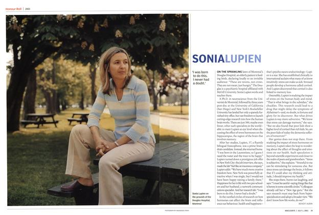 Article Preview: SONIA LUPIEN, July 2003 | Maclean's