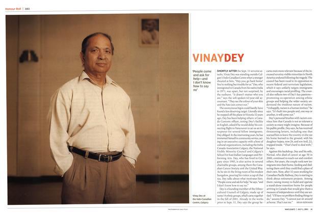 Article Preview: VINAY DEY, July 2003 | Maclean's