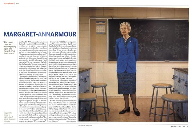 Article Preview: MARGARET-ANN ARMOUR, July 2003 | Maclean's