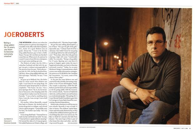 Article Preview: JOE ROBERTS, July 2003 | Maclean's