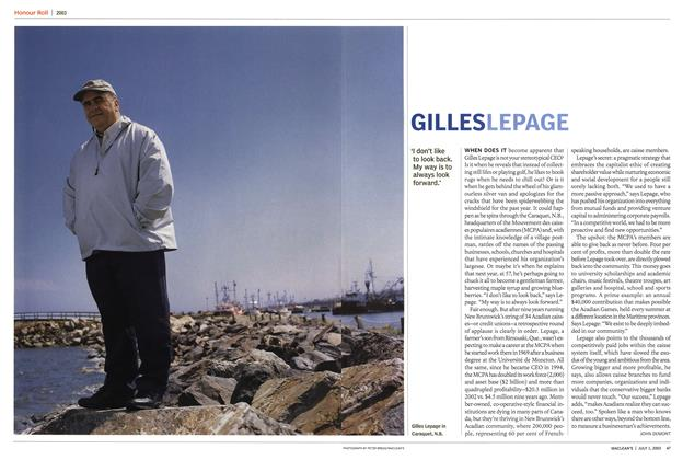 Article Preview: GILLES LEPAGE, July 2003 | Maclean's