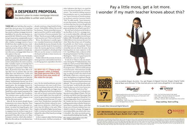 Article Preview: A DESPERATE PROPOSAL, July 2003 | Maclean's