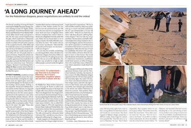 Article Preview: 'A LONG JOURNEY AHEAD', July 2003 | Maclean's