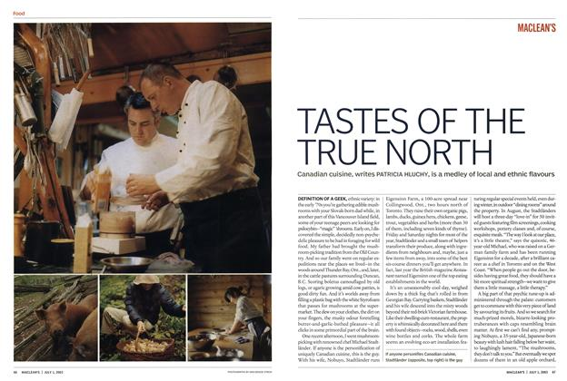 Article Preview: TASTES OF THE TRUE NORTH, July 2003 | Maclean's