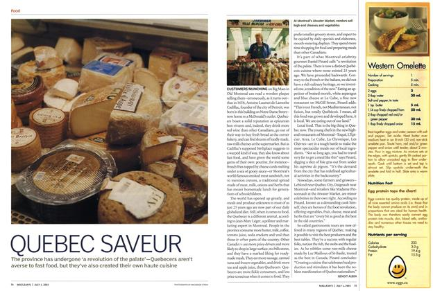 Article Preview: QUEBEC SAVEUR, July 2003 | Maclean's