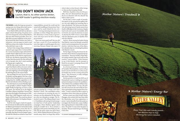 Article Preview: YOU DON'T KNOW JACK, July 2003 | Maclean's