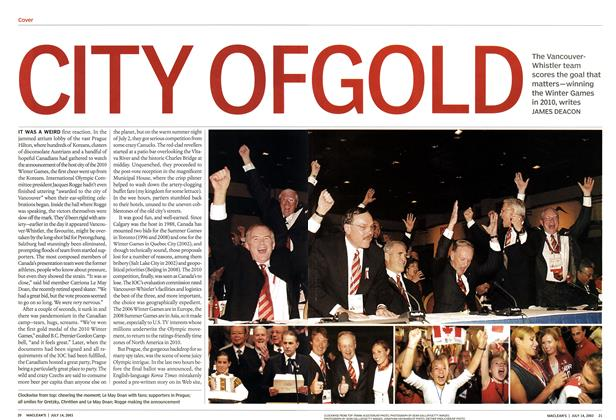Article Preview: CITY OF GOLD, July 2003 | Maclean's
