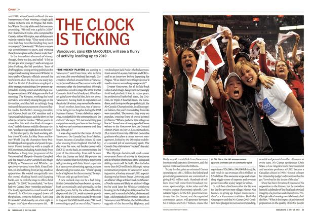 Article Preview: THE CLOCK IS TICKING, July 2003 | Maclean's