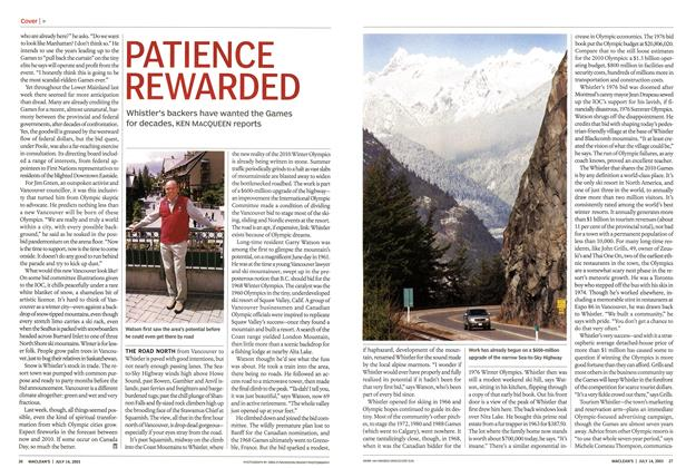 Article Preview: PATIENCE REWARDED, July 2003 | Maclean's