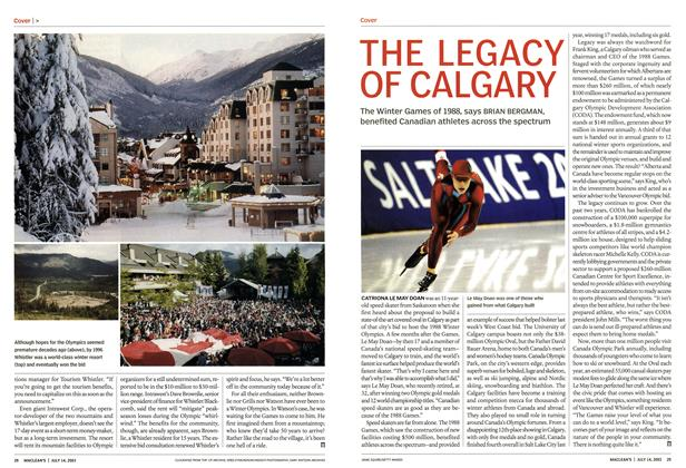 Article Preview: THE LEGACY OF CALGARY, July 2003 | Maclean's