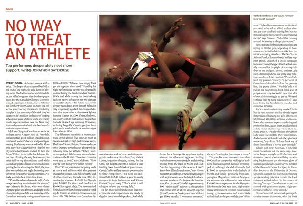 Article Preview: NO WAY TO TREAT AN ATHLETE, July 2003 | Maclean's