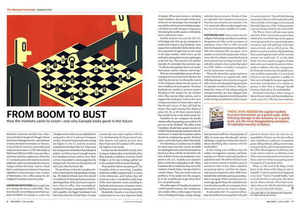 Article Preview: FROM BOOM TO BUST, July 2003 | Maclean's